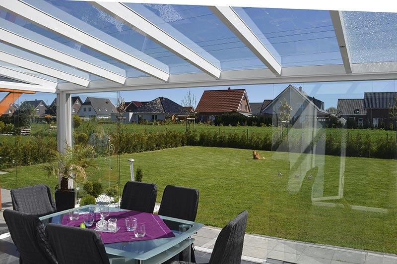 Hypermoderne Overdækning af terrasse   Forlæng året med overdækning SD-78